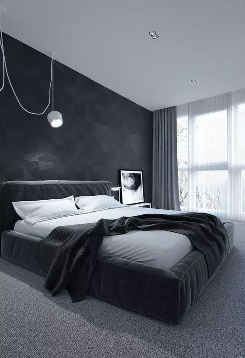 Popular Modern Man Bedroom With Elegant Look 21
