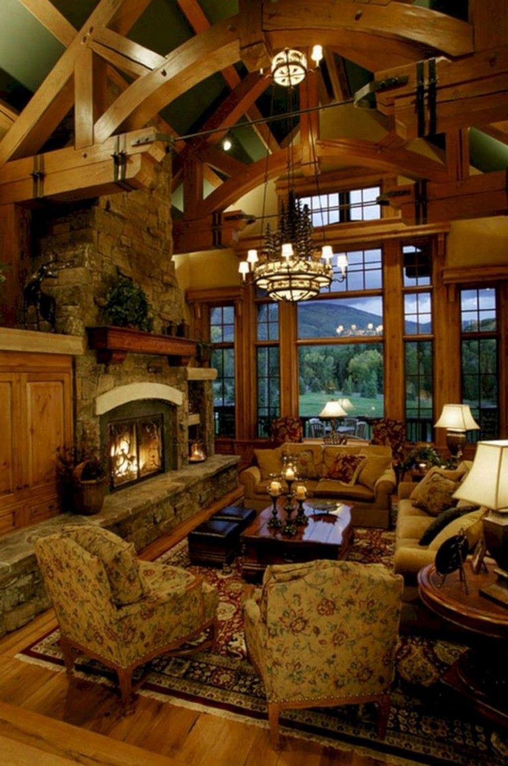 Stunning Lodge Living Room Decor Ideas 25