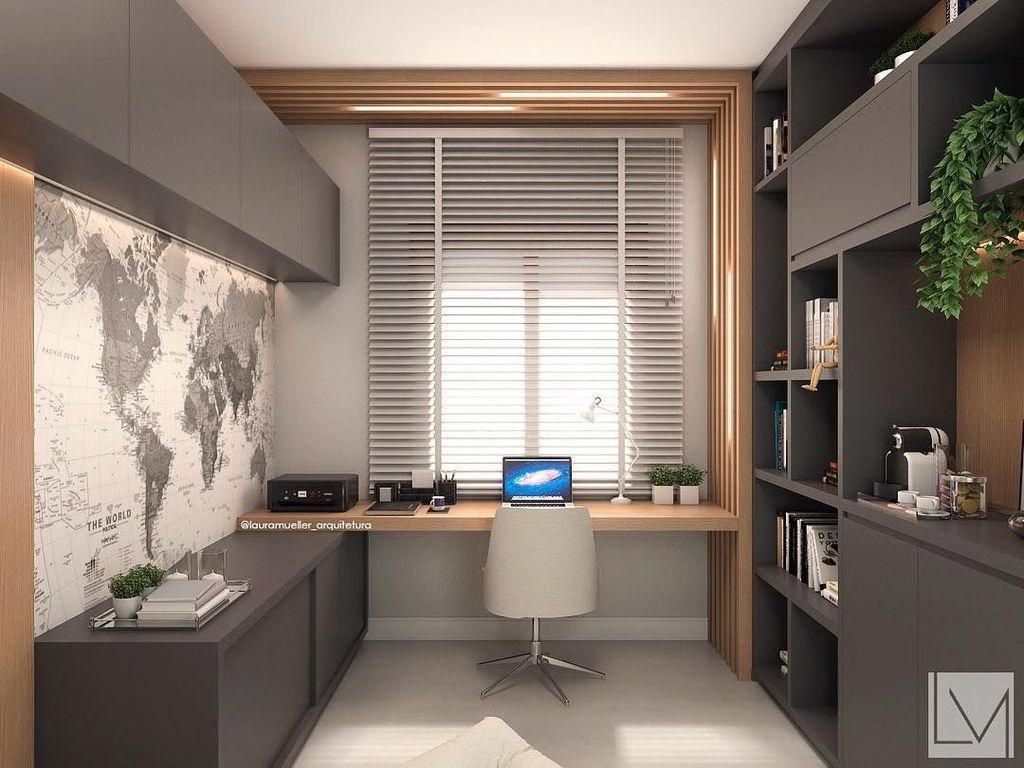 Stunning Modern Home Office Design Ideas 21