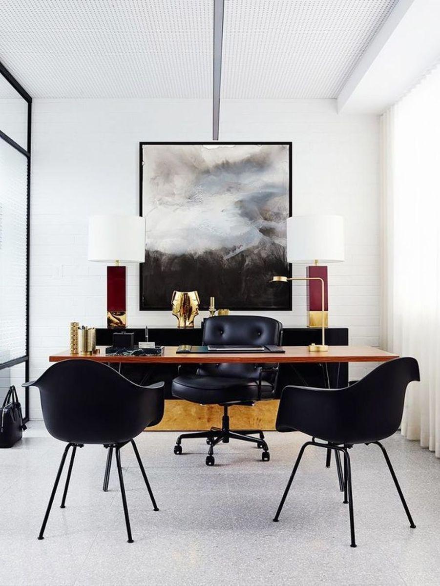 Stunning Modern Home Office Design Ideas 33