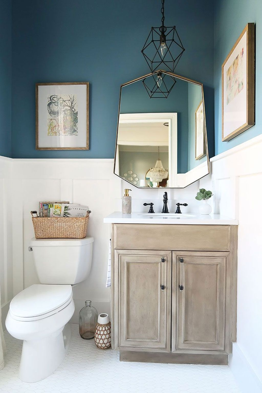 Awesome Coastal Style Bathroom Decorating Ideas 14