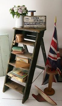 Gorgeous Vintage Ladder Decor Ideas 16