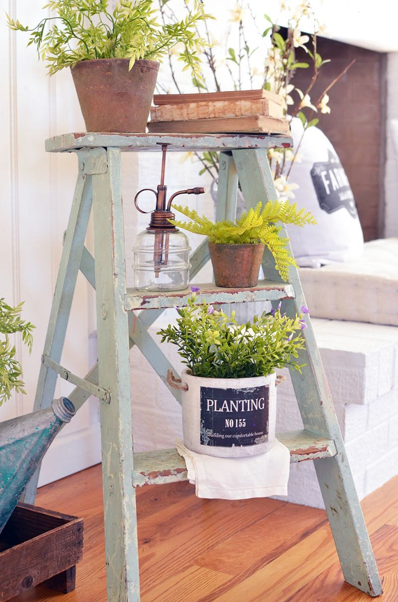 Gorgeous Vintage Ladder Decor Ideas 22