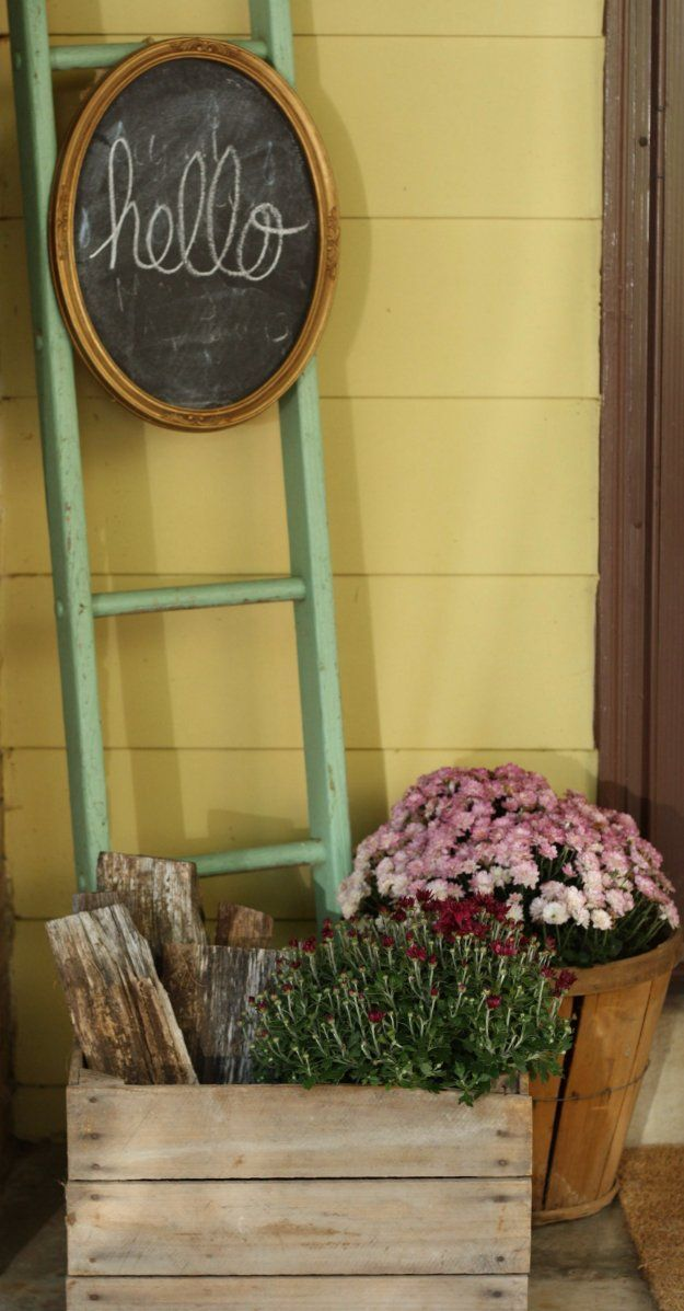 Gorgeous Vintage Ladder Decor Ideas 31