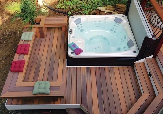 Inspiring Hot Tub Patio Design Ideas For Your Outdoor Decor 19