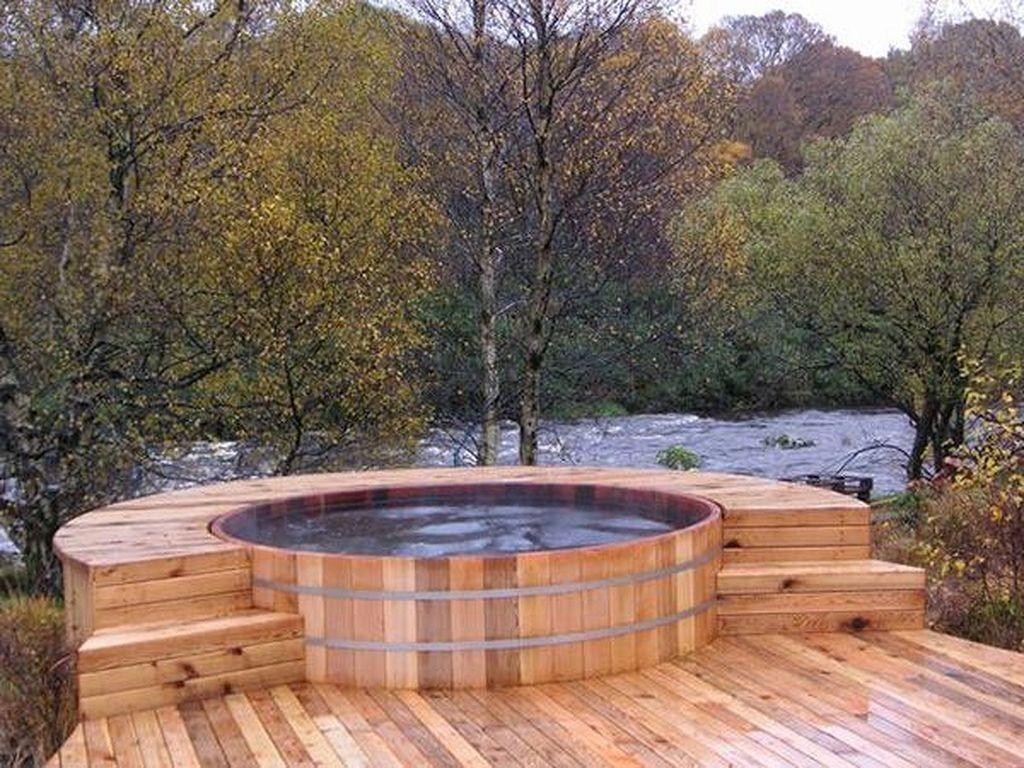 Inspiring Hot Tub Patio Design Ideas For Your Outdoor Decor 23