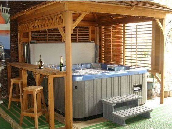 Inspiring Hot Tub Patio Design Ideas For Your Outdoor Decor 29