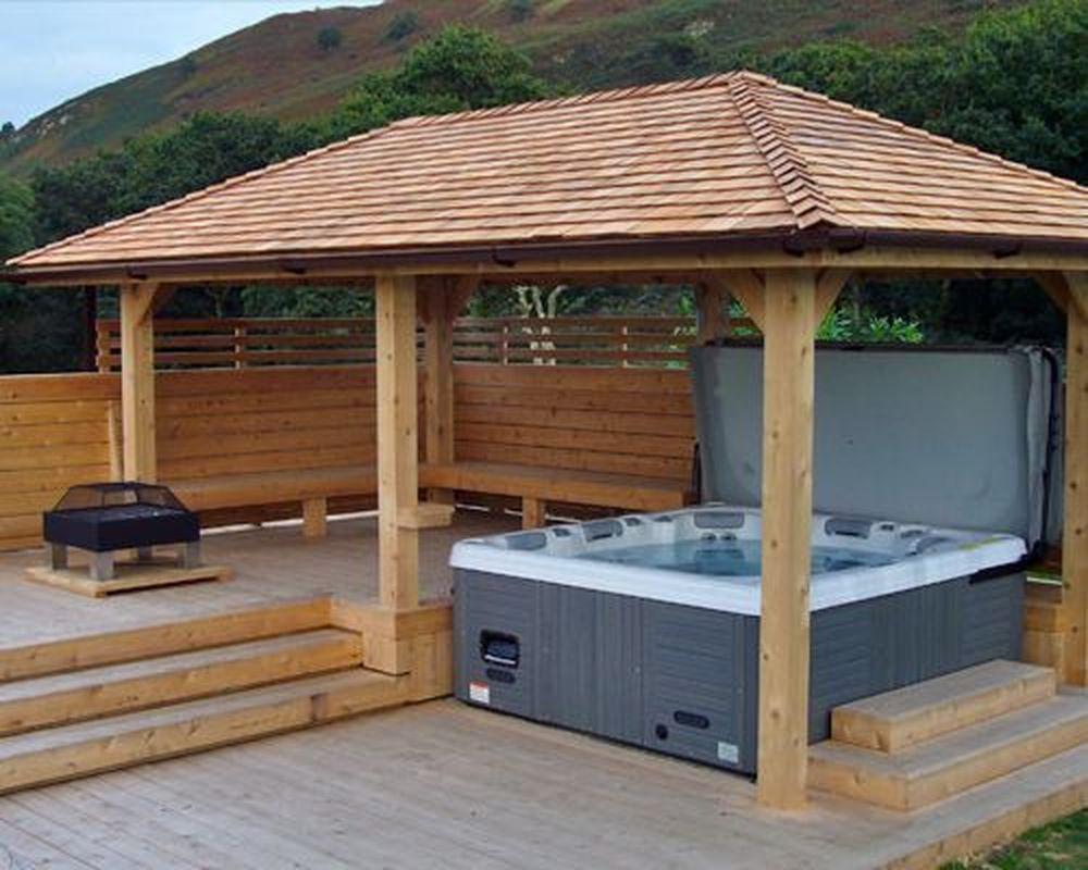 Inspiring Hot Tub Patio Design Ideas For Your Outdoor Decor 32