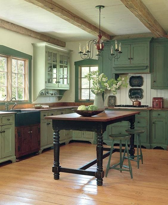 Nice Colonial Kitchen Decoration Ideas 13