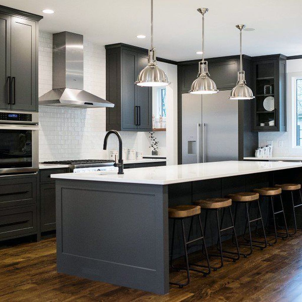 Stunning Black Kitchen Island Ideas 19