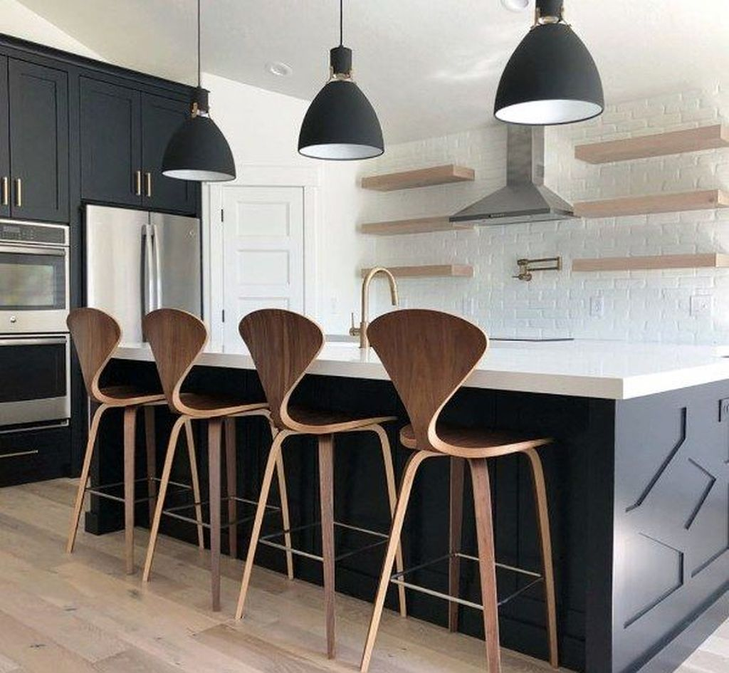 Stunning Black Kitchen Island Ideas 22