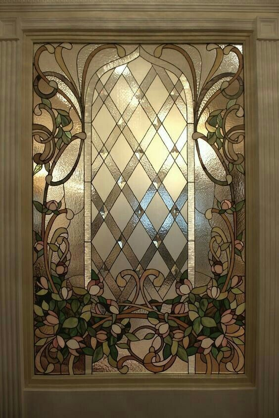 Stunning Leaded Glass Windows Design Ideas 07