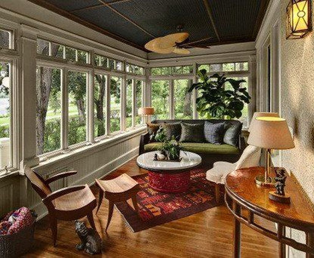 The Best Enclosed Porch Design And Decor Ideas 08