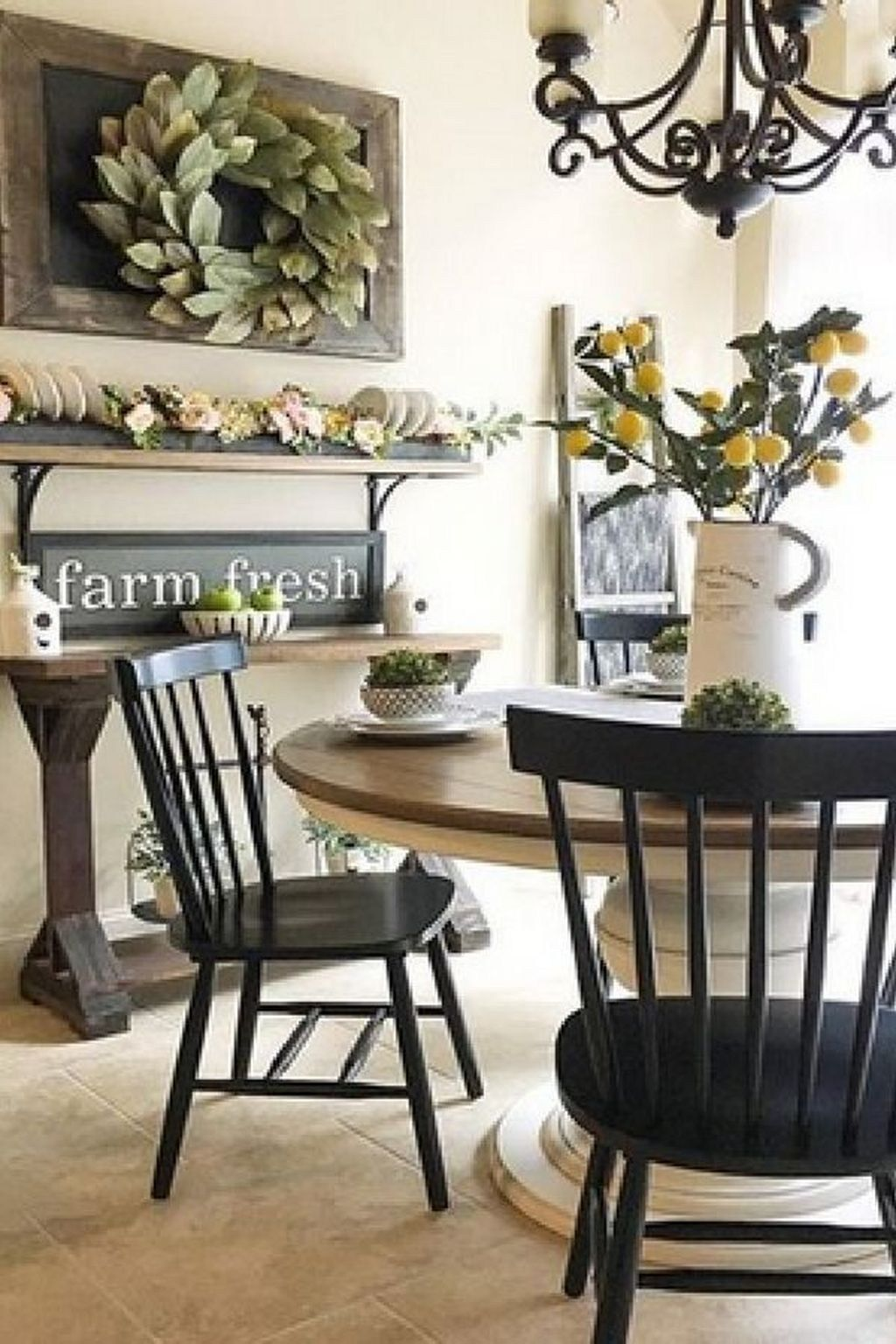 The Best Rustic Dining Room Decoration Ideas 25