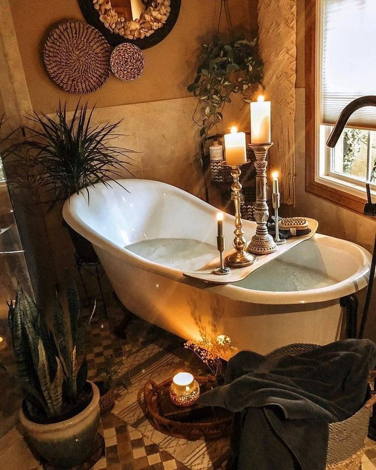 Amazing Bohemian Style Bathroom Decor Ideas 05