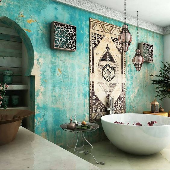 Amazing Bohemian Style Bathroom Decor Ideas 20