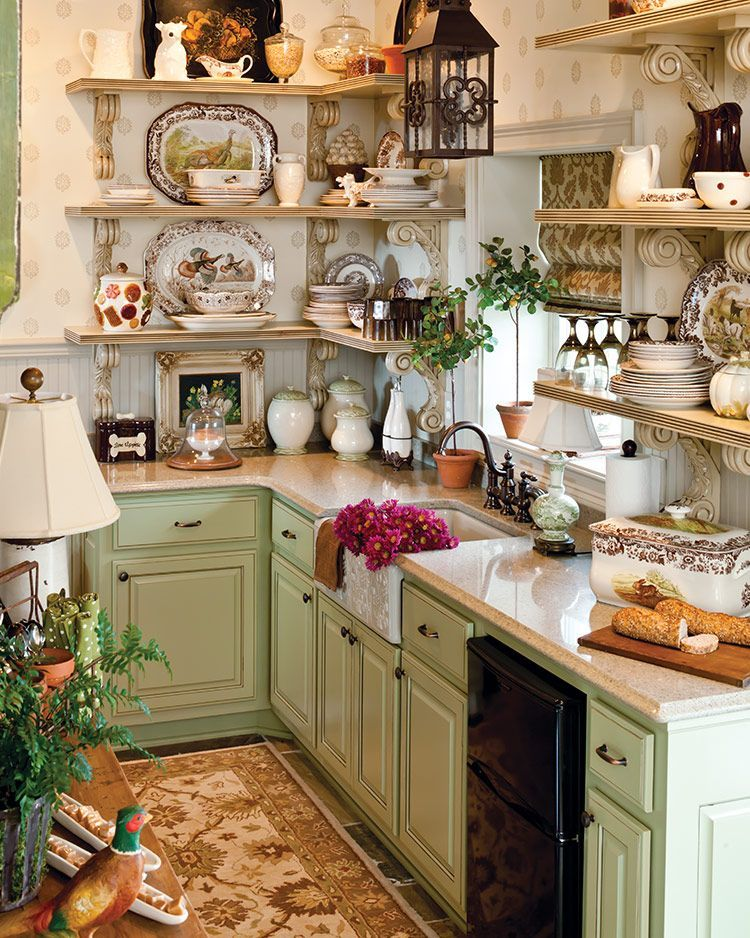 Awesome Cottage Kitchens Design Ideas 30
