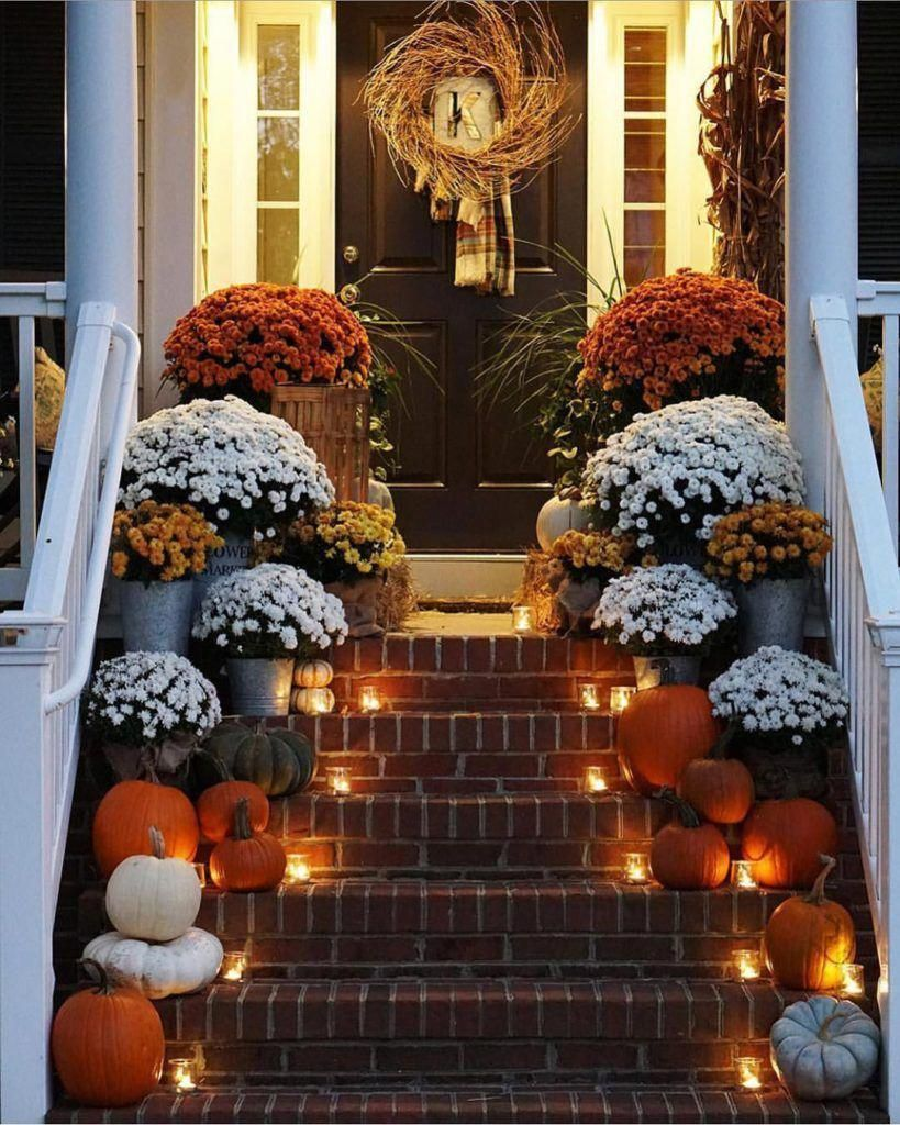 Awesome Thanksgiving Front Door Decor Ideas 15