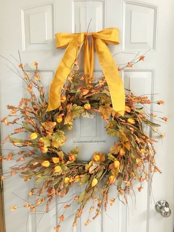 Awesome Thanksgiving Front Door Decor Ideas 24