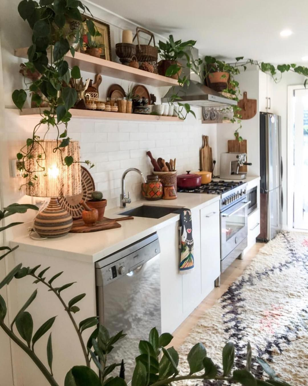 Beautiful Bohemian Style Kitchen Decoration Ideas 01
