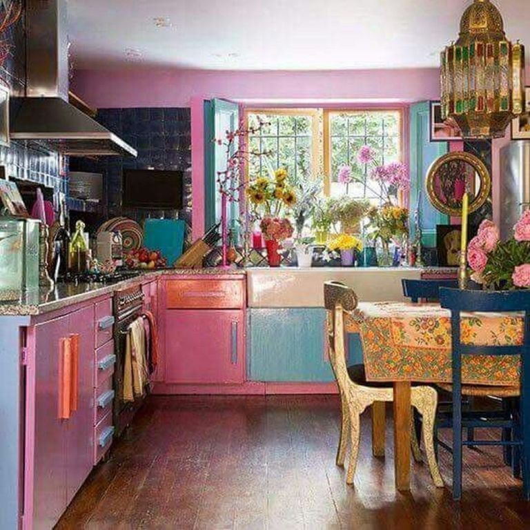 Beautiful Bohemian Style Kitchen Decoration Ideas 11