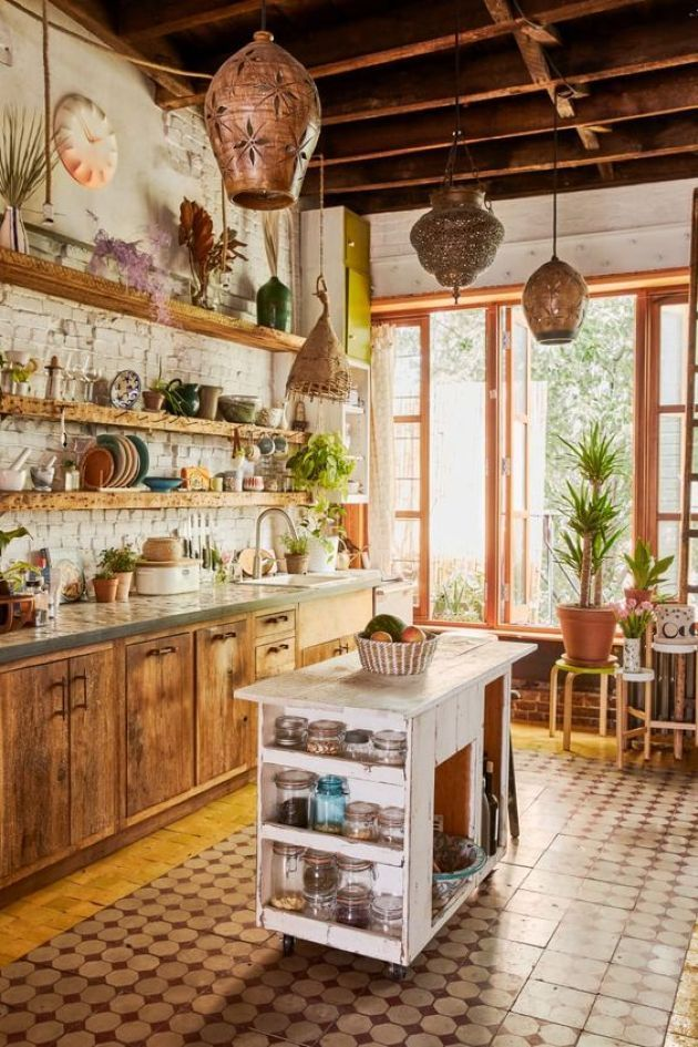 Beautiful Bohemian Style Kitchen Decoration Ideas 13