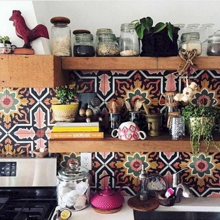 Beautiful Bohemian Style Kitchen Decoration Ideas 16