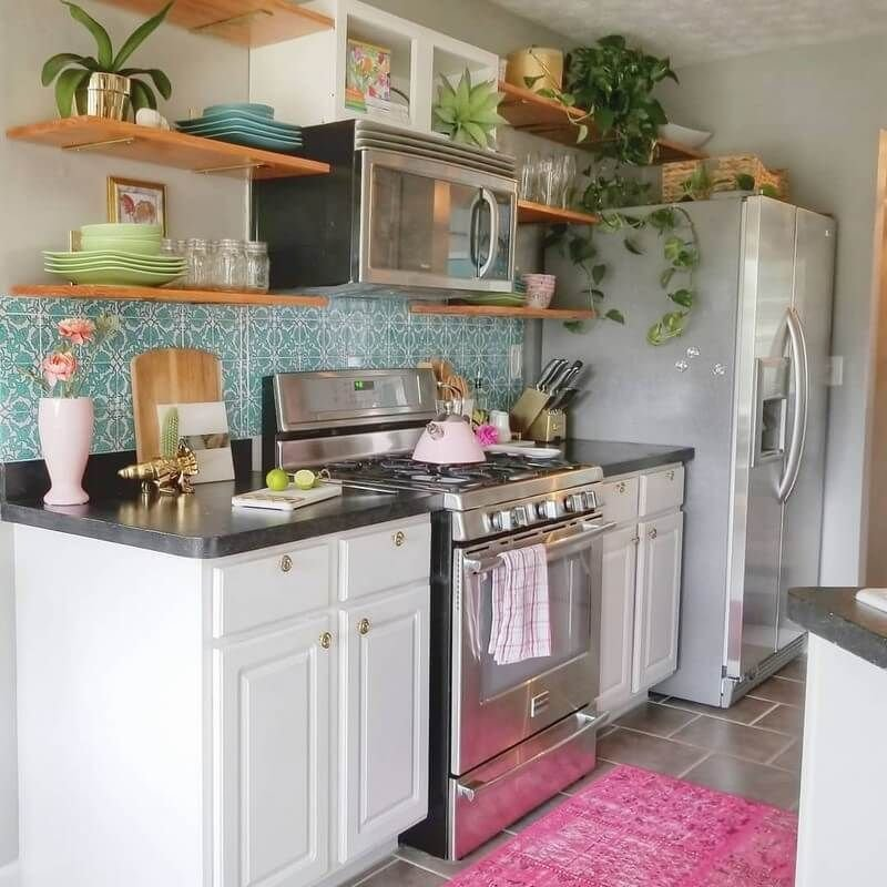 Beautiful Bohemian Style Kitchen Decoration Ideas 17