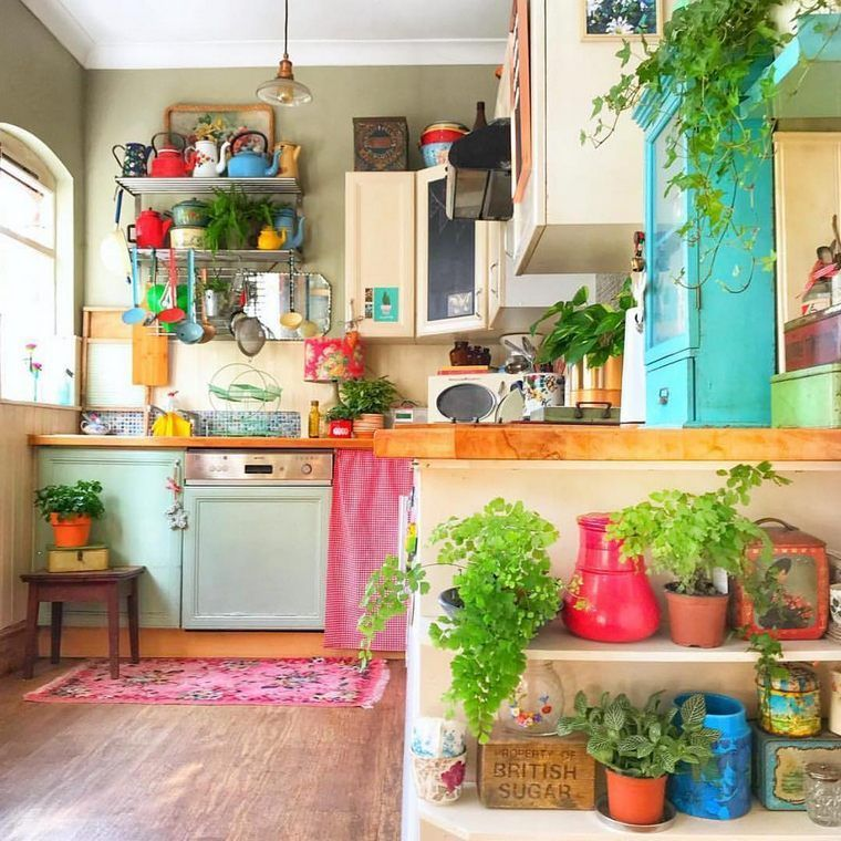 Beautiful Bohemian Style Kitchen Decoration Ideas 20