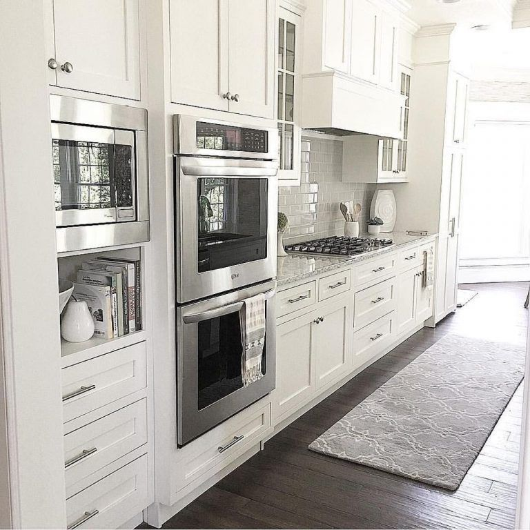 Inspiring White Kitchen Design Ideas With Luxury Accent 02