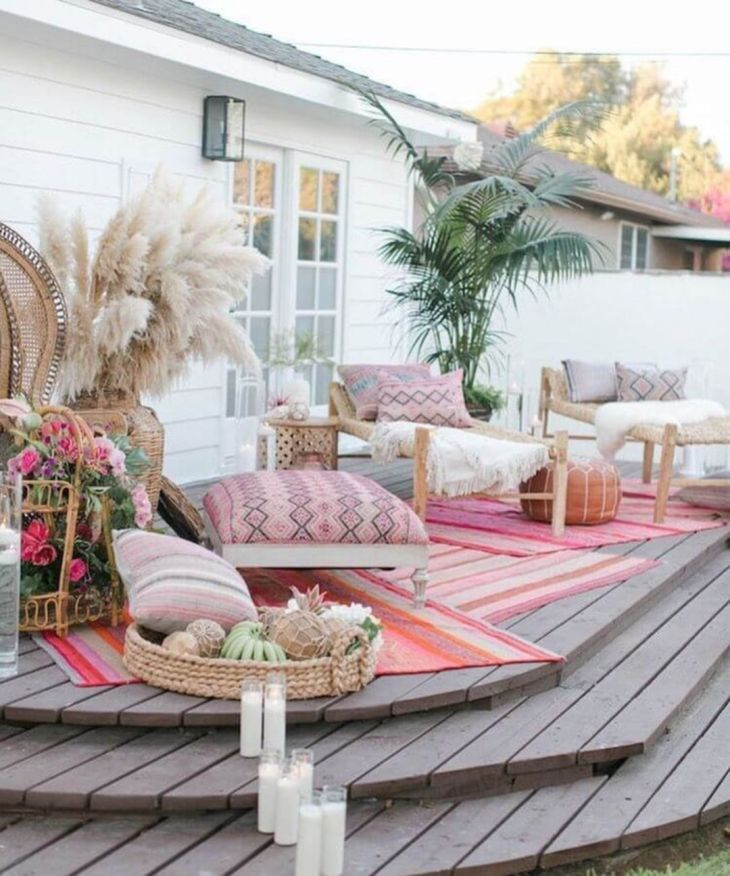 Lovely Bohemian Style Ideas For Your Outdoor Design 01