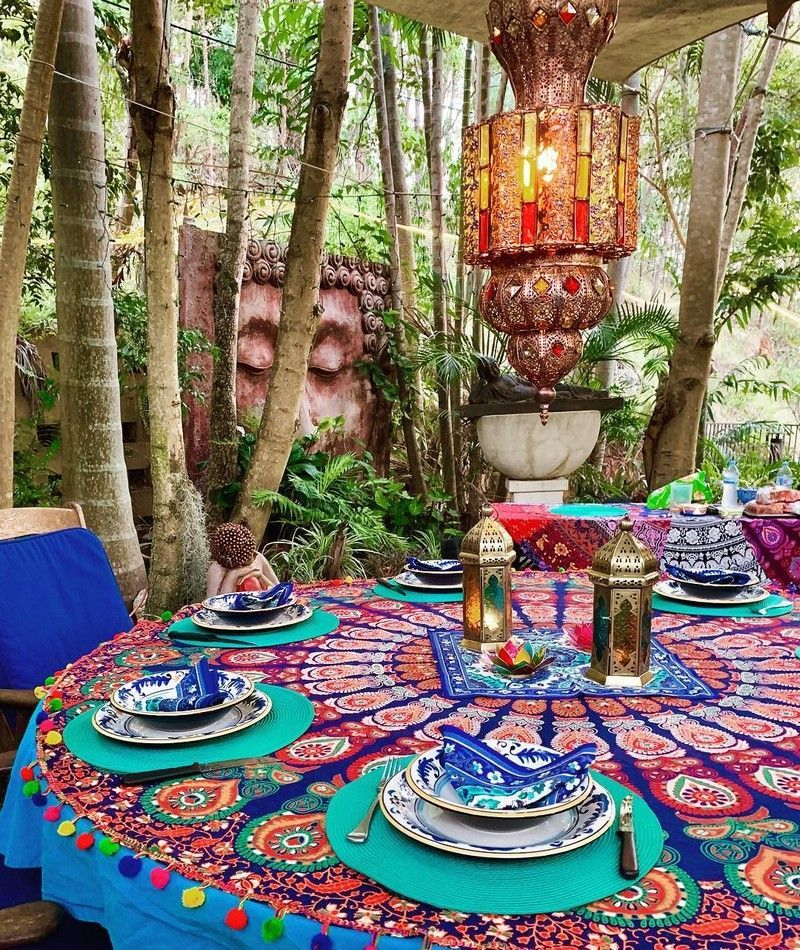 Lovely Bohemian Style Ideas For Your Outdoor Design 10