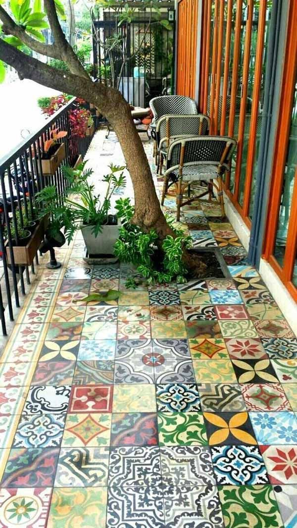 Lovely Bohemian Style Ideas For Your Outdoor Design 22