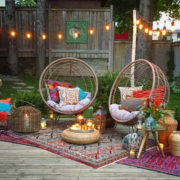 Lovely Bohemian Style Ideas For Your Outdoor Design 23