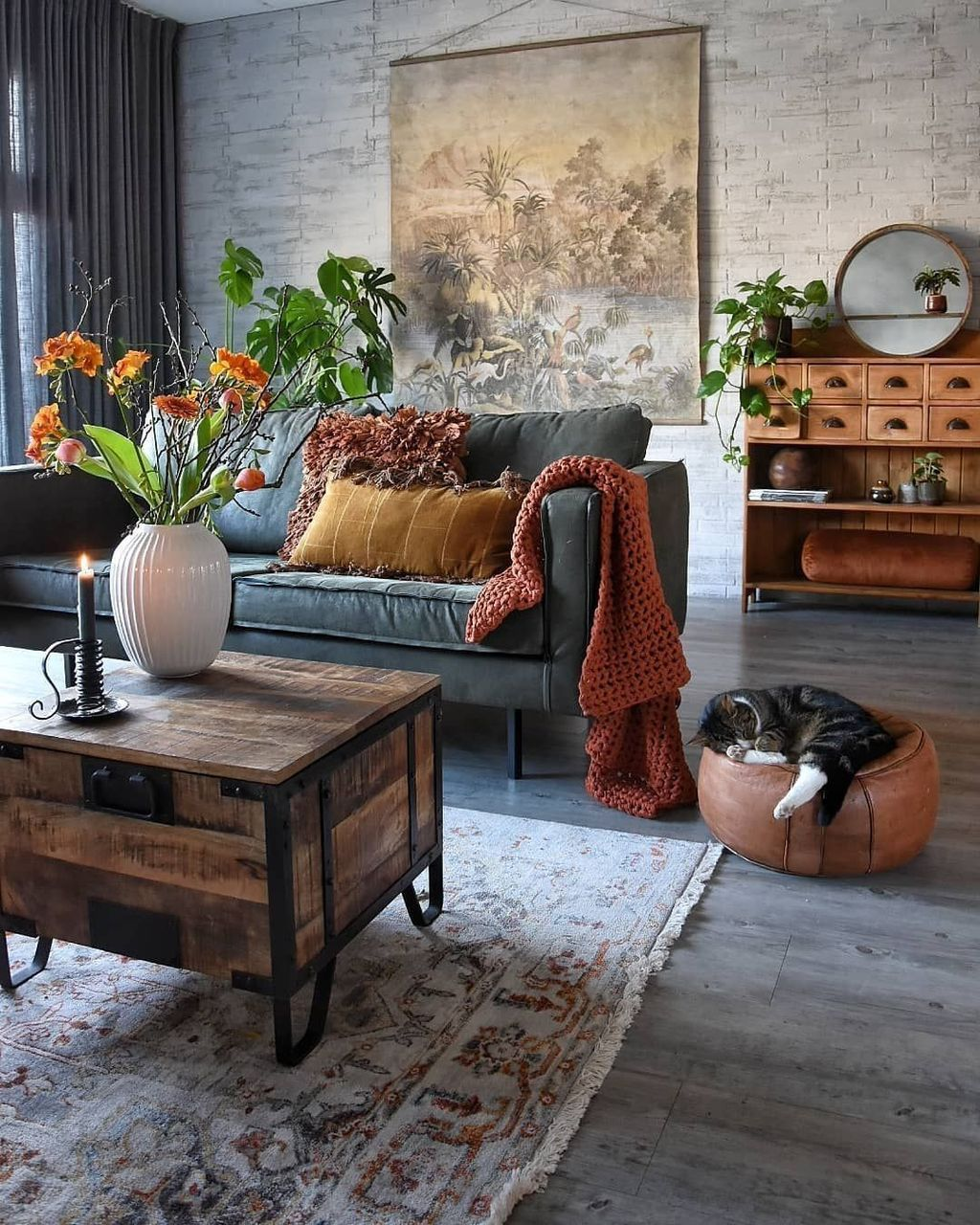Lovely Living Room Decoration Ideas With Bohemian Style 12
