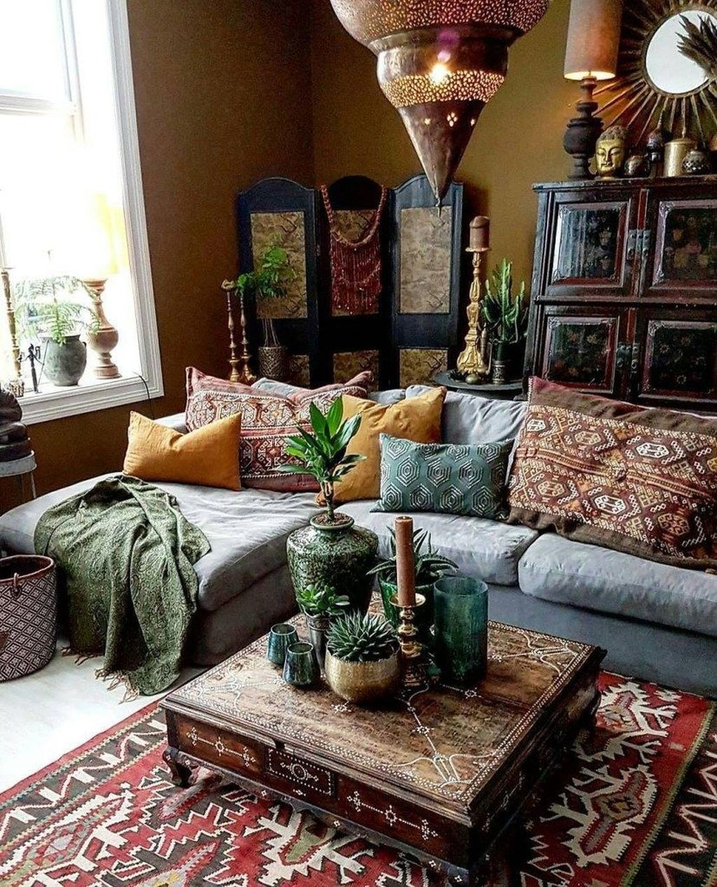Lovely Living Room Decoration Ideas With Bohemian Style 16