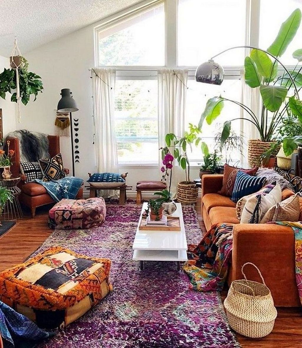Lovely Living Room Decoration Ideas With Bohemian Style 25