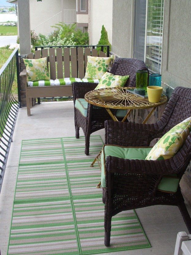 Lovely Small Porch Apartment Balconies Ideas 14