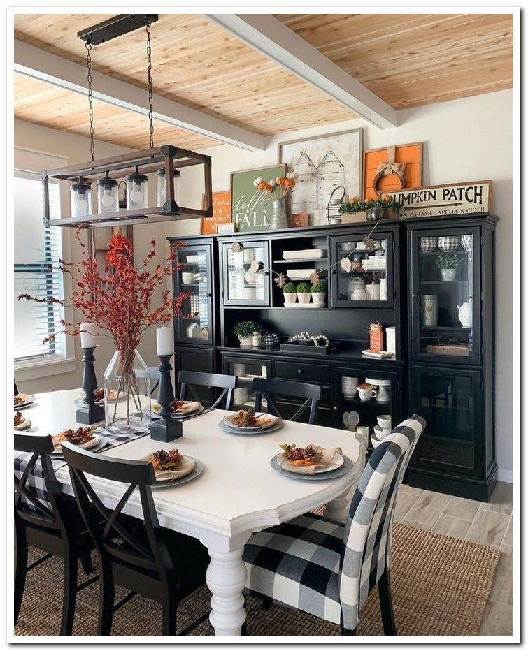 Popular Rustic Farmhouse Style Ideas For Dining Room Decor 04