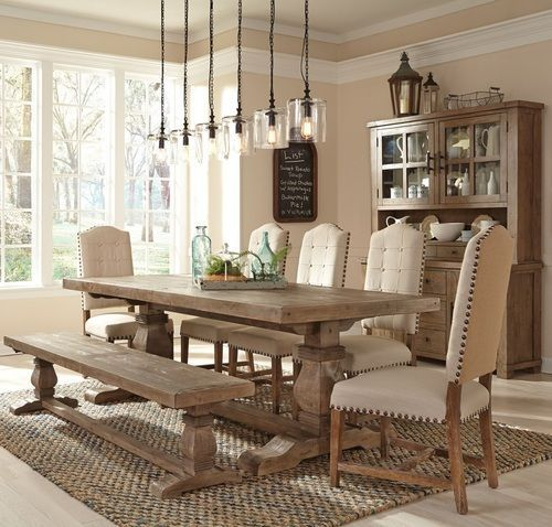 Popular Rustic Farmhouse Style Ideas For Dining Room Decor 34