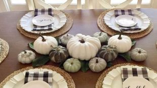 Popular Thanksgiving Table Decorating Ideas Beautiful Look 32