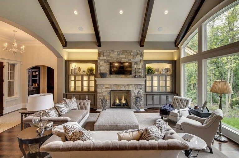 Stunning Living Room Wall Decoration Ideas 19
