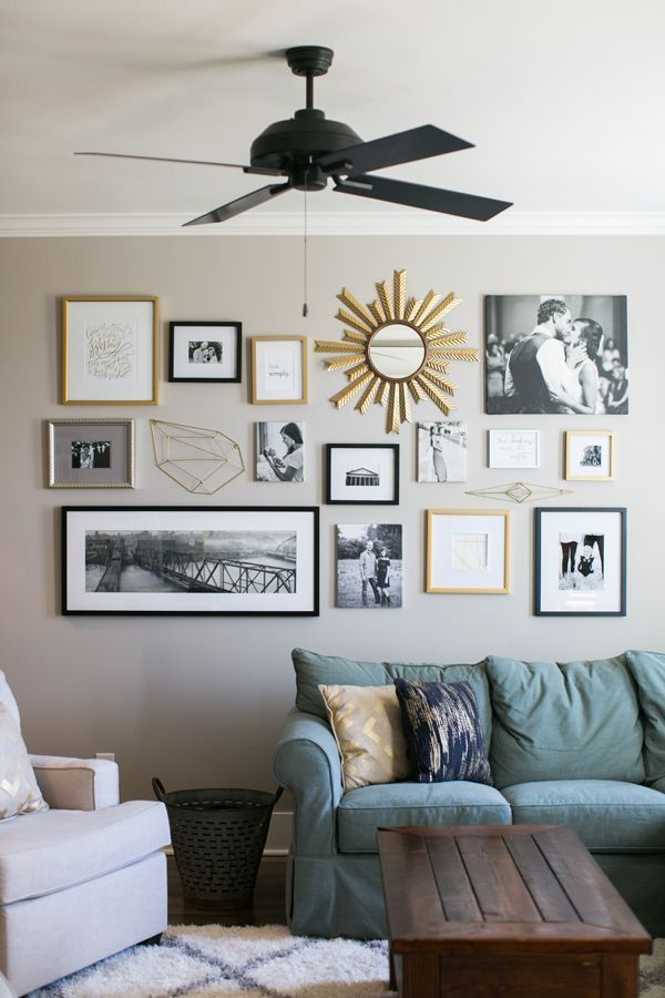 Beautiful Living Room Wall Gallery Decorating Ideas 04