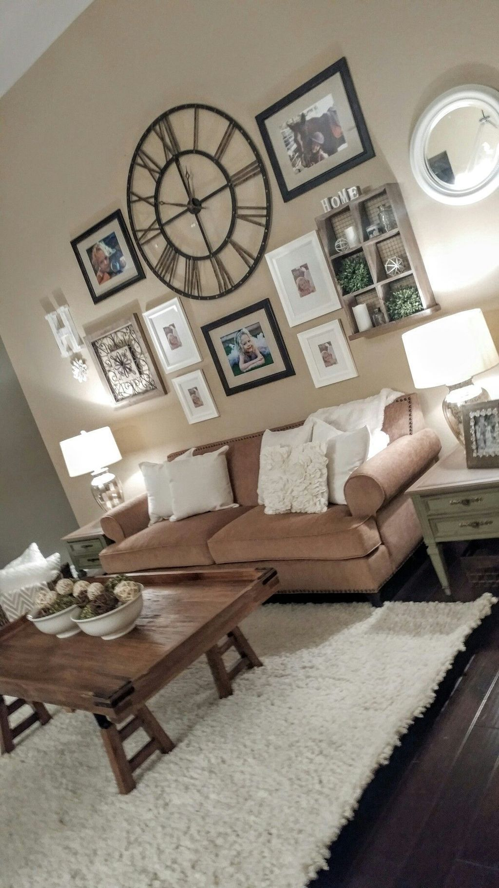 Beautiful Living Room Wall Gallery Decorating Ideas 13