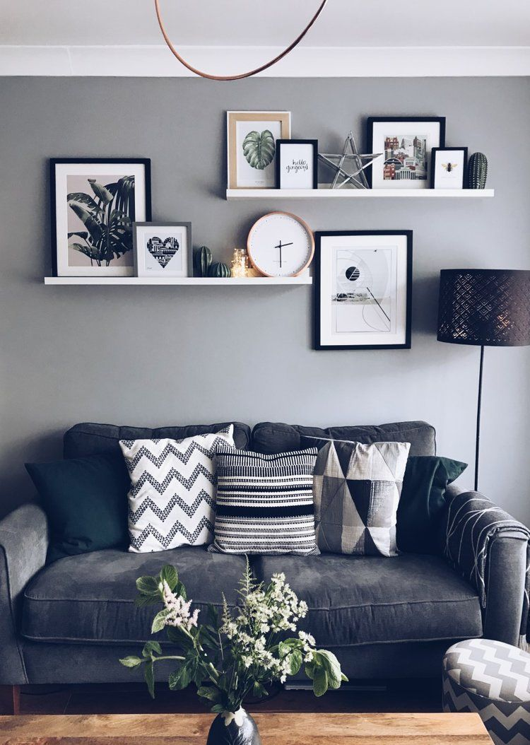Beautiful Living Room Wall Gallery Decorating Ideas 15
