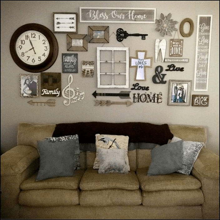 Beautiful Living Room Wall Gallery Decorating Ideas 23