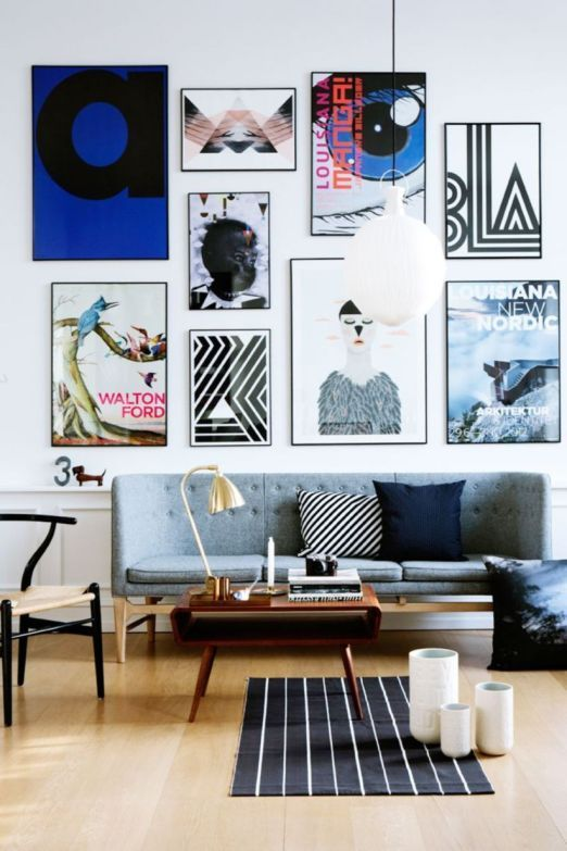 Beautiful Living Room Wall Gallery Decorating Ideas 33