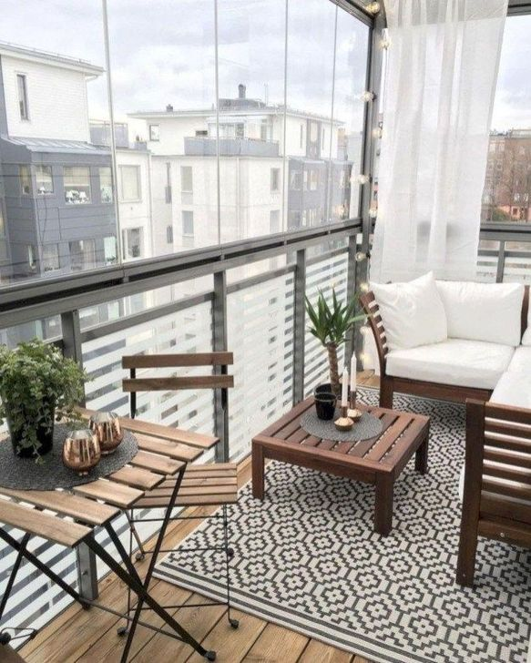 Awesome Apartment Balcony Decorating Ideas 23
