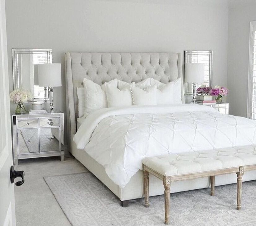 Beautiful White Bedroom Design And Decor Ideas 34