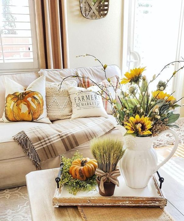 Fabulous Fall Living Room Decor Ideas To Feel Comfortable At Home 02